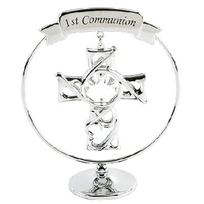 A CRYSTOCRAFT 1st COMMUNION CAKE TOPPER AND GIFT - SWAROVSKI CRYSTAL