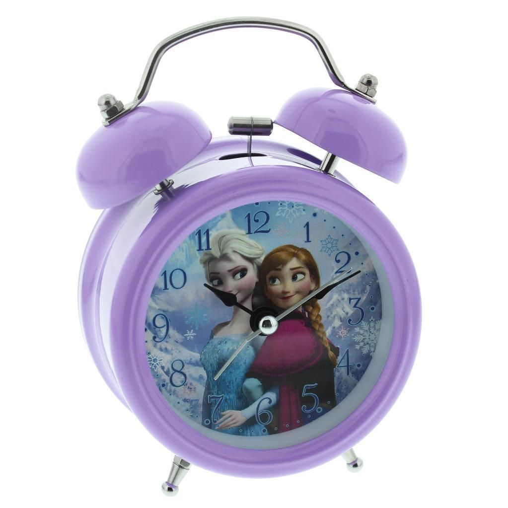 Disney Frozen Tell The Time Elsa Anna Pink Wall Clock For Children