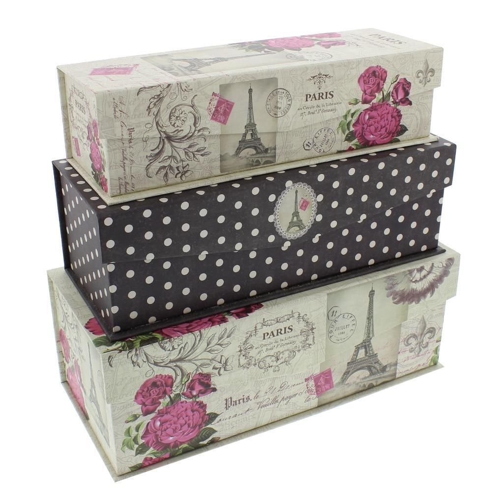 Pretty Storage Boxes. Snap-N-Store Storage Box 3-Piece Set