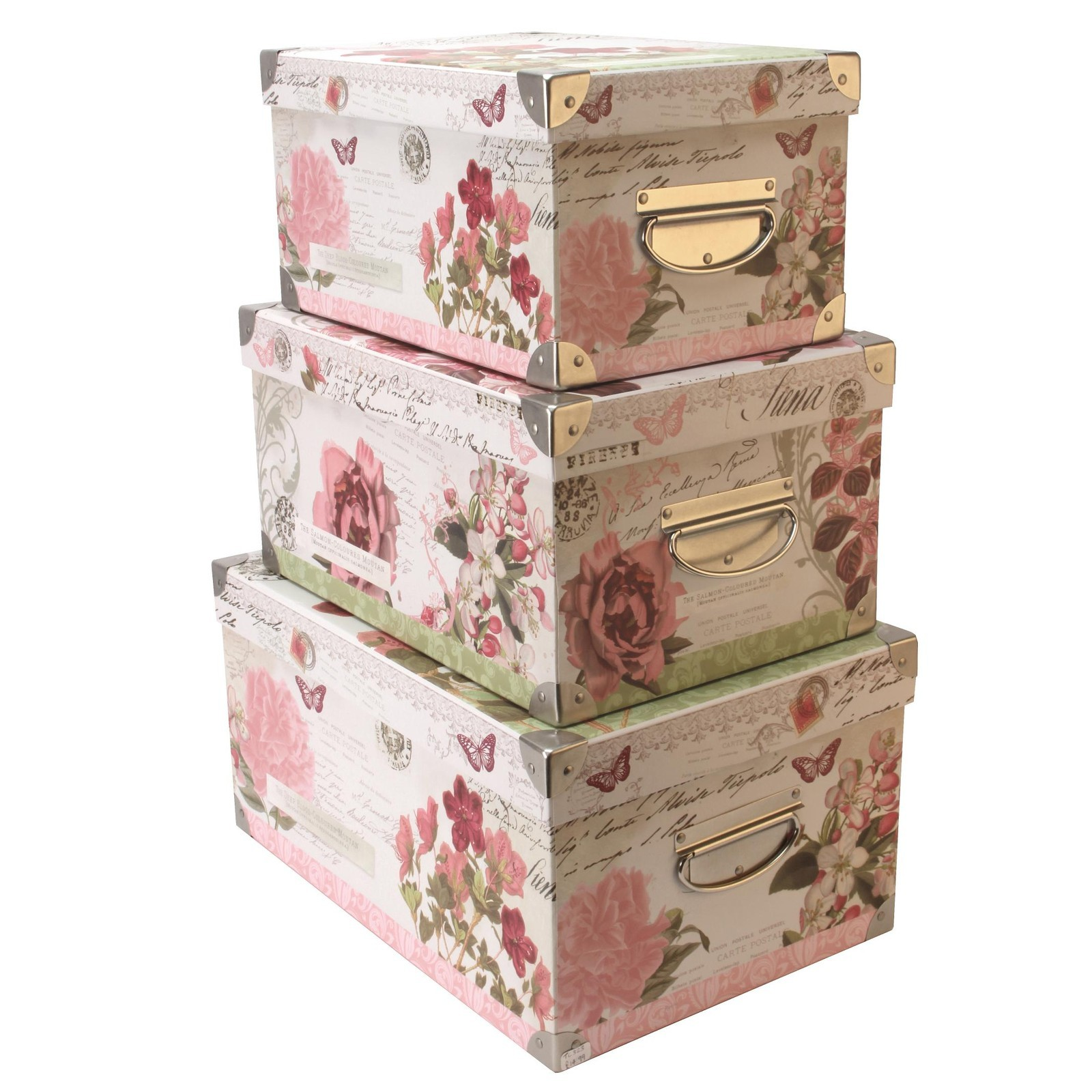 Decorative Boxes Tk Maxx : Pretty storage boxes l canvas box with lid by