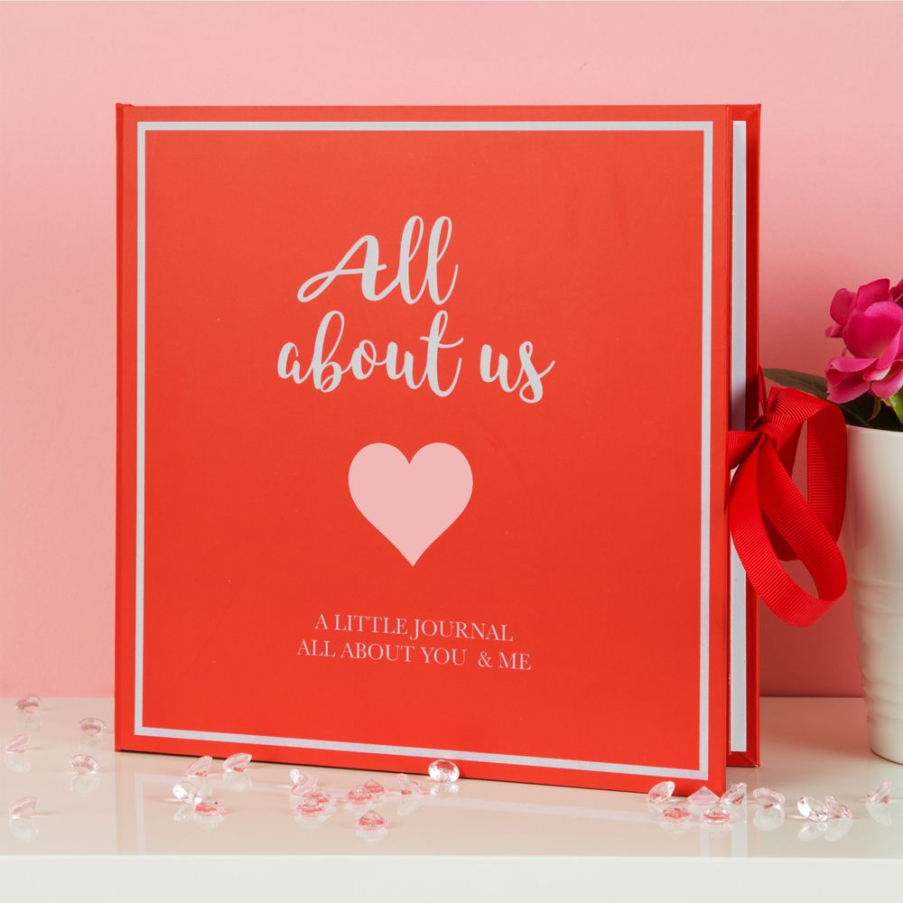 'All About Us' Scrapbook Keepsake Gift - Valentine Love Journal - A truly unique and personal Valentine Gift Idea