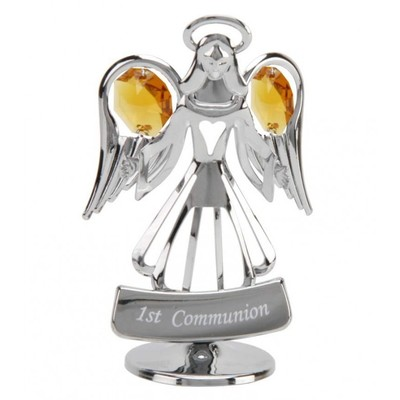 A CRYSTOCRAFT COMMUNION  ANGEL - GIFTS FOR FIRST COMMUNION - SWAROVSKI CRYSTAL