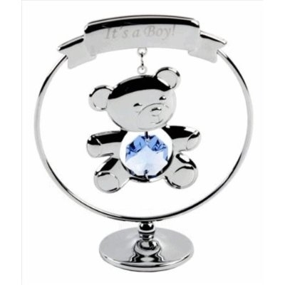 A CRYSTOCRAFT KEEPSAKE 'ITS A BOY ' - NEW BABY GIFT - SWAROVSKI CRYSTAL