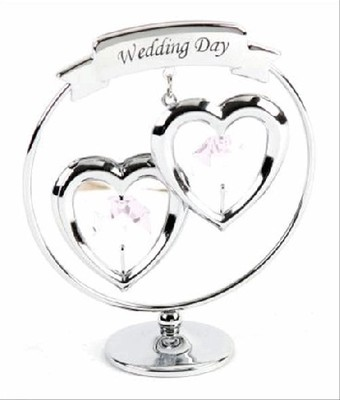 A CRYSTOCRAFT WEDDING DAY - CAKE TOPPER AND GIFT - SWAROVSKI CRYSTAL