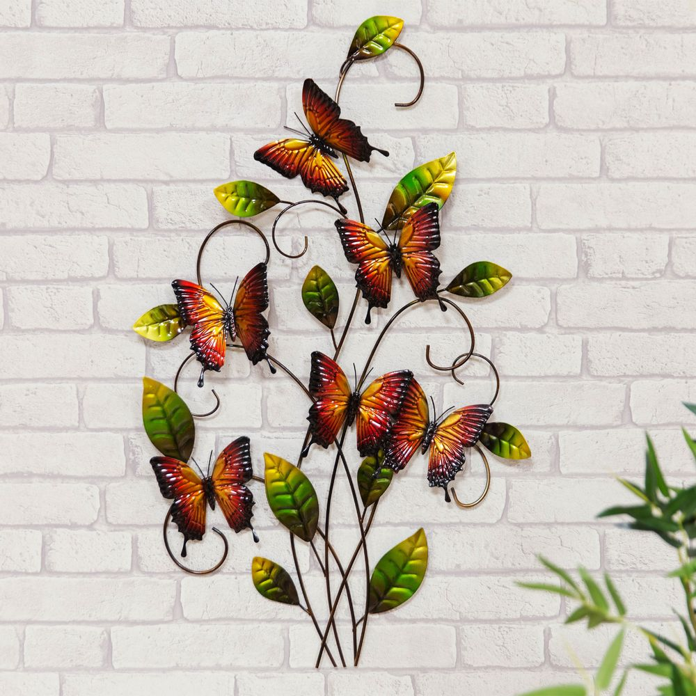 Butterfly Metal Wall Art Ornament For Home And Garden Hand Made