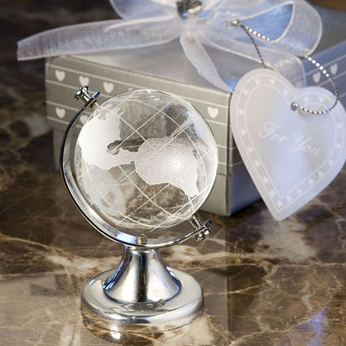 Crystal Mini World Globe Table Gift Party Favor
