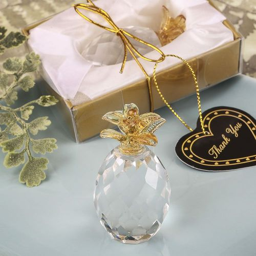 Glass Crystal Pineapple Favor Ornament Thank You Gift Idea Boxed