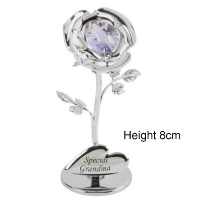 CRYSTOCRAFT SWAROVSKI ROSE SPECIAL GRANDMA - MOTHERS DAY OR CAKE DEC KEEPSAKE