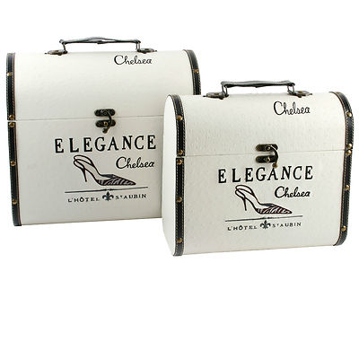 Decorative Luggage & Wooden  Storage Boxes