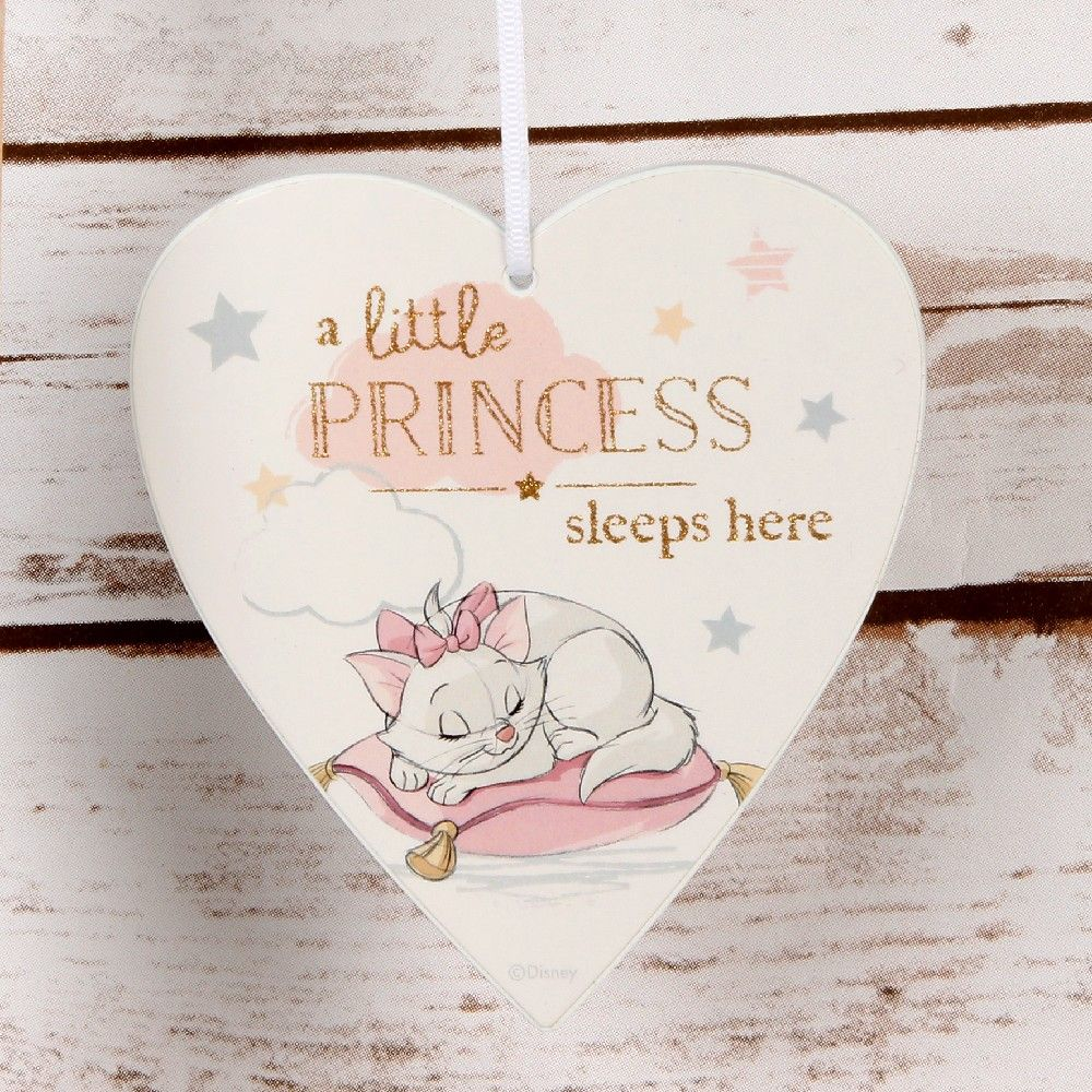 Disney Aristocats Marie Hanging Door Plaque - Little Princess Sleeps Here