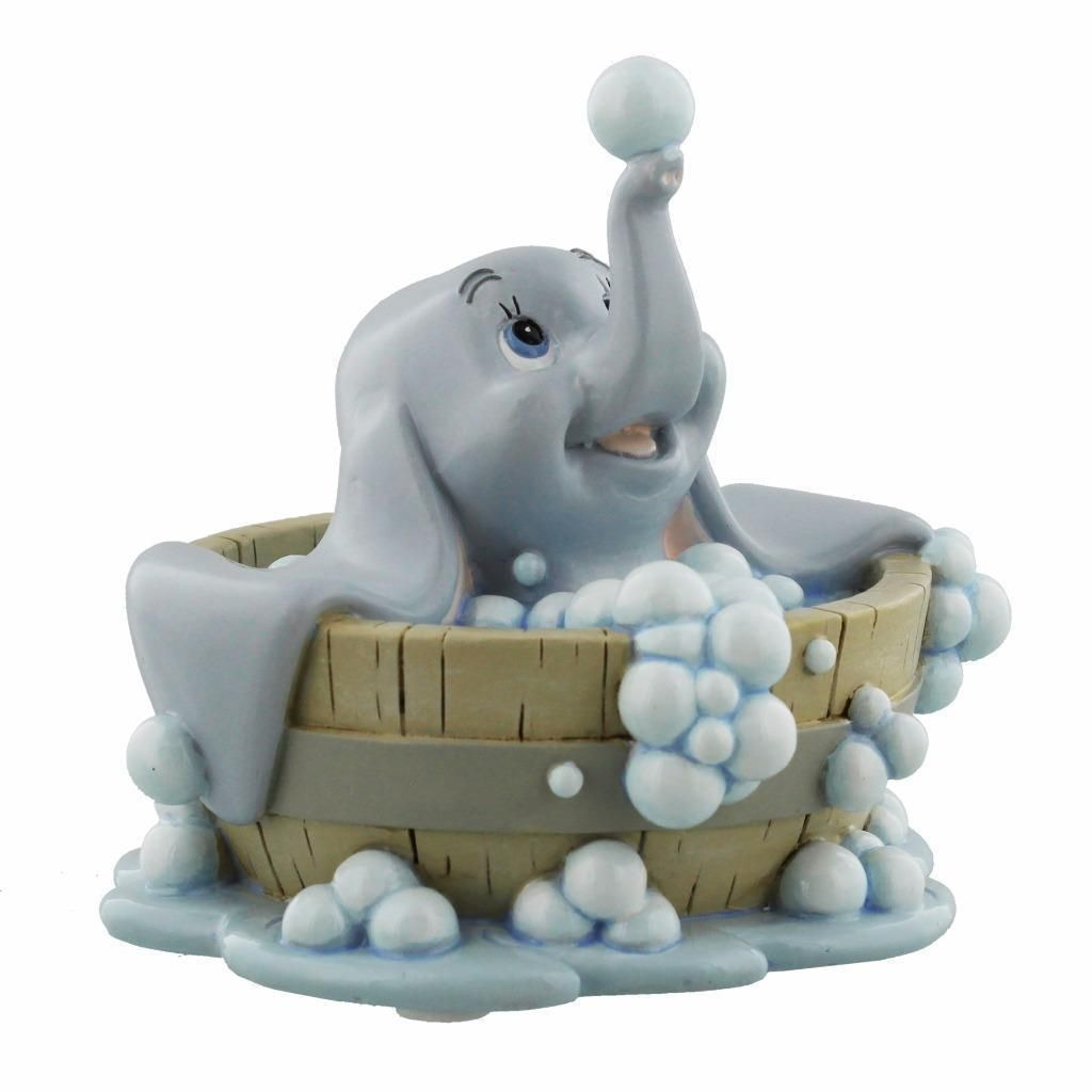 disney dumbo figurine magical moments dumbo in bath collectable disney ornament gift. Black Bedroom Furniture Sets. Home Design Ideas