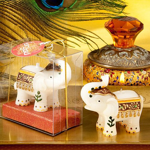 Good Fortune Elephant Candle Favor Gift