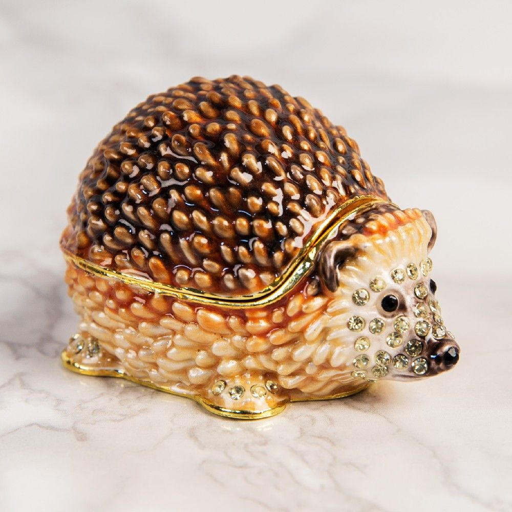 Hedgehog Trinket Box Gift - Treasured Trinkets Collectibles by Juliana.  A unique gift for Christmas and birthdays
