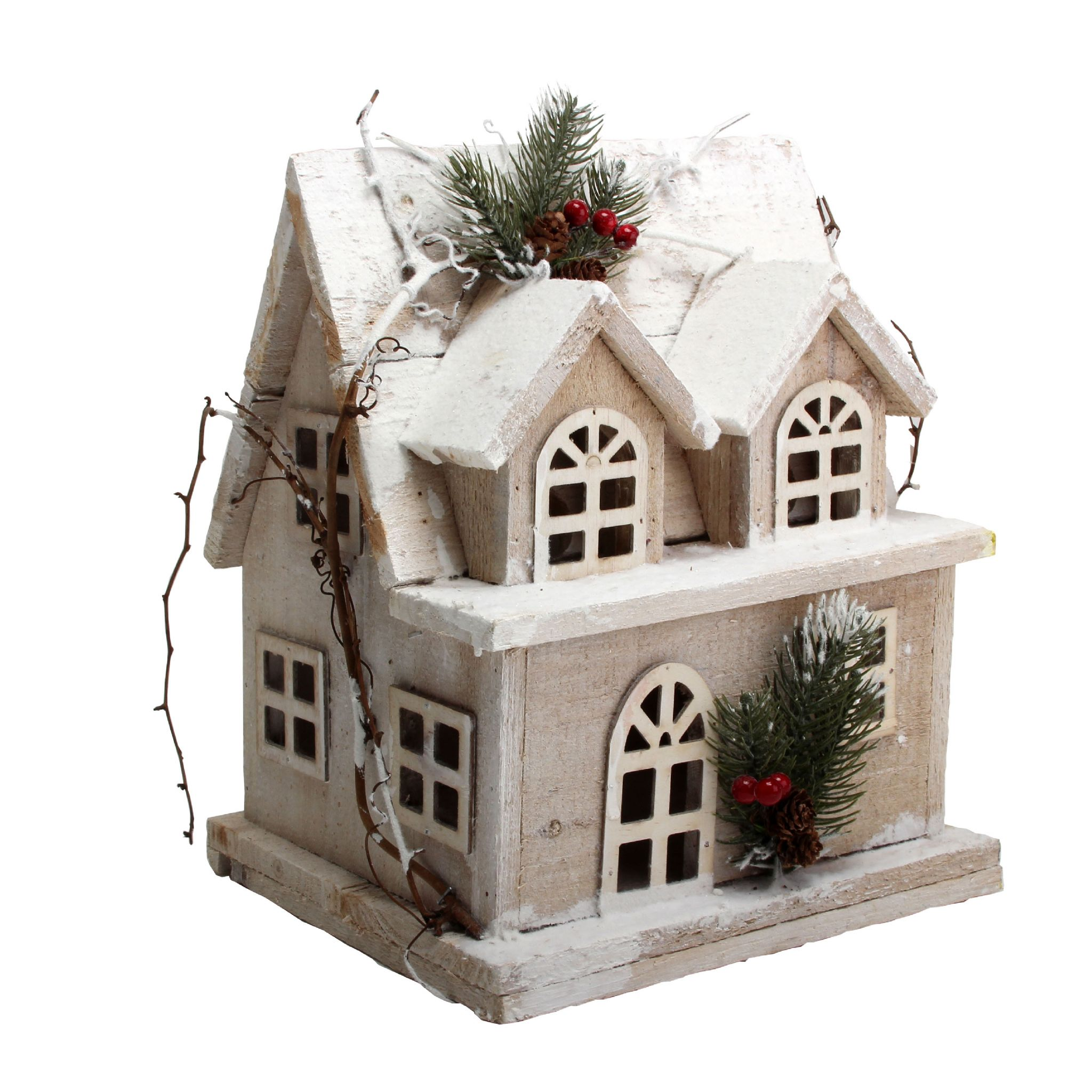 Decorated Model Homes: Large Wooden House Christmas Decoration