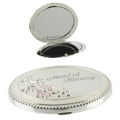 MAID OF HONOUR GIFT - BEAUTIFUL COMPACT MIRROR - BRIDESMAID GIFT - AMAZING PRICE