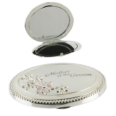 MOTHER OF THE GROOM - BEAUTIFUL COMPACT MIRROR - IN GIFTBOX - GREAT VALUE