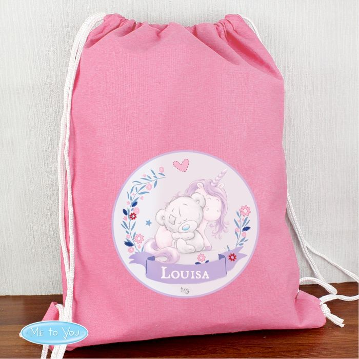 Personalised Back To School Tatty Teddy Unicorn Gym/Swim/PE Bag