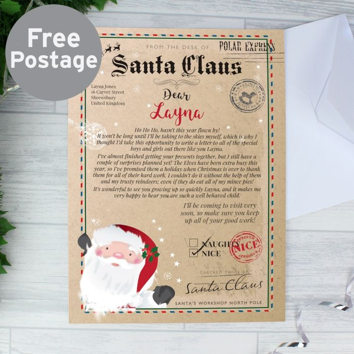 Personalised letter from santa gift for children letter from personalised letter from santa gift for children letter from father christmas free postage spiritdancerdesigns Images