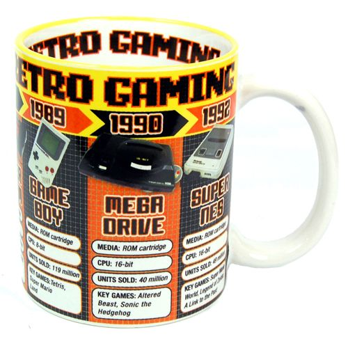 Retro gaming Mug Featuring Atari, Sega and Nintendo Retro Consoles - Retro Mug