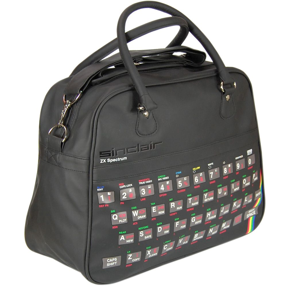 Sinclaire ZX Spectrum Retro Overnight Bag Flight Bag Mens Accessories and gifts