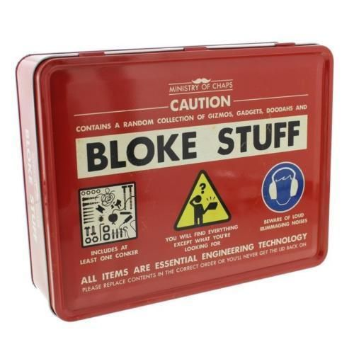 The Official Man Tin - Bloke Stuff Metal Storage Tin For Men - What Do Men Keep In Their Man Tin?