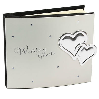 WEDDING GUEST BOOK - SPECIAL SILVER GUEST BOOK FOR WEDDING = WEDDING PRESENT